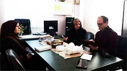 Professor Hassanzadeh visits the Peivande Gole Narges charity institute